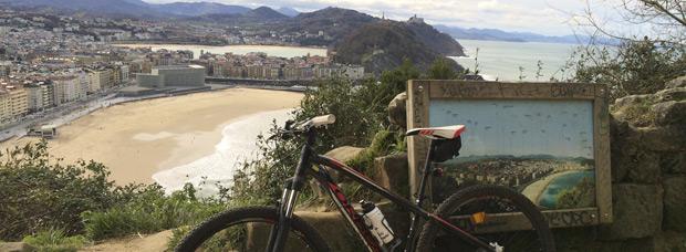 La foto del día en TodoMountainBike: 'Desde San Sebastián'