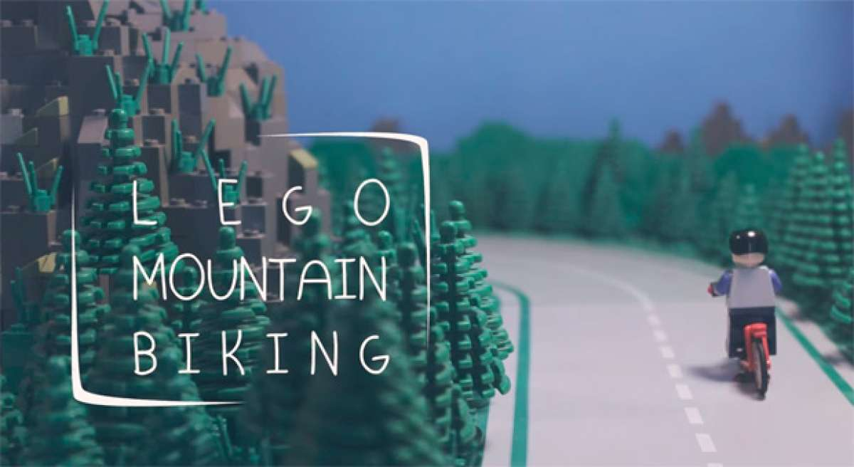 LEGO Mountain Biking: Muñecos de LEGO practicando Freeride extremo