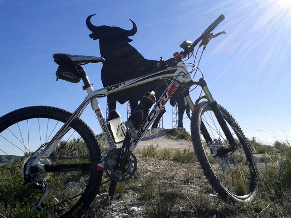 La foto del día en TodoMountainBike: 'En los Montes Blancos (Zaragoza)'