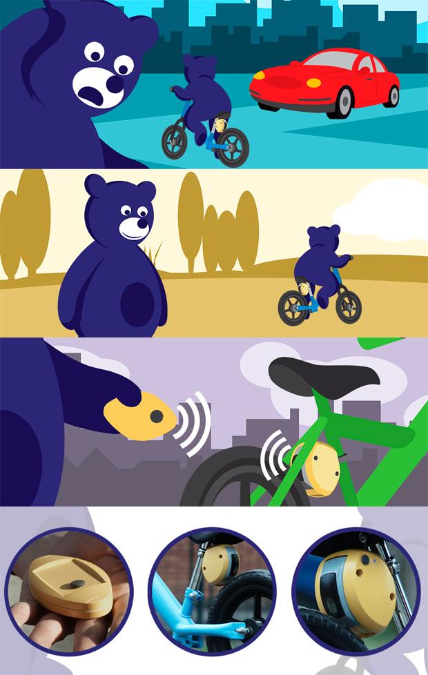 MiniBrake: Un freno con control remoto para las bicicletas de los más pequeños