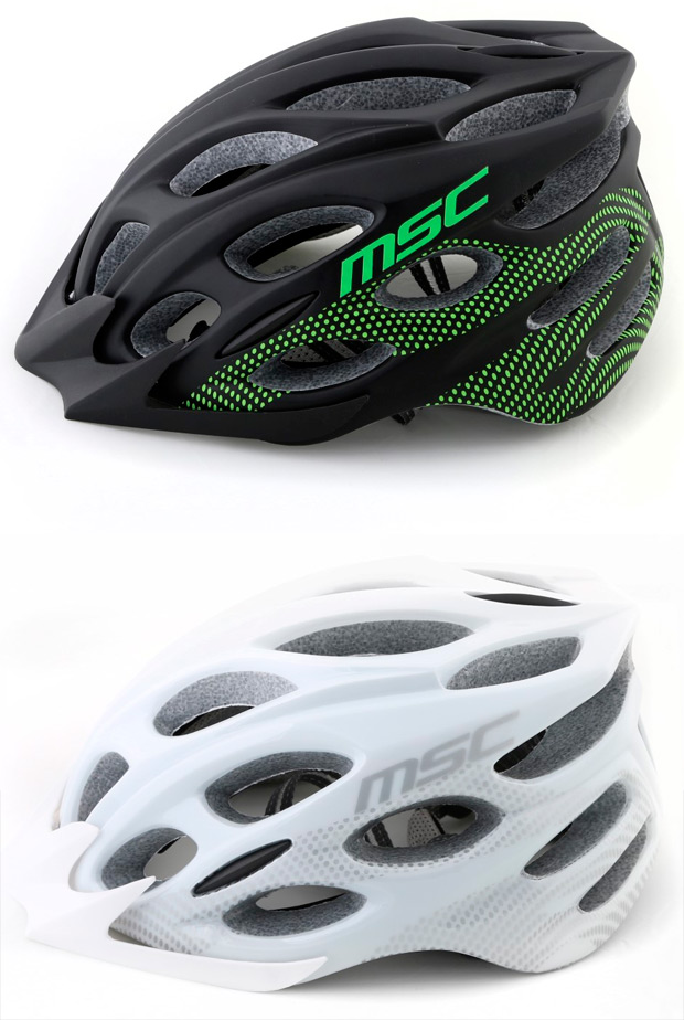 La nueva y completa gama de cascos para ciclistas de montaña y carretera de MSC Bikes
