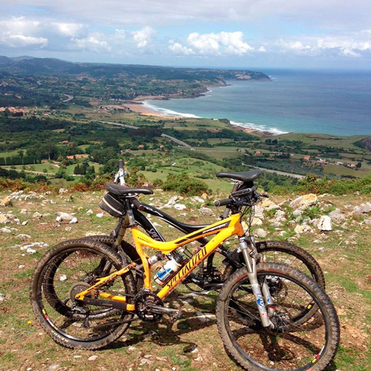 La foto del día en TodoMountainBike: 'En el pico de La Forquita'
