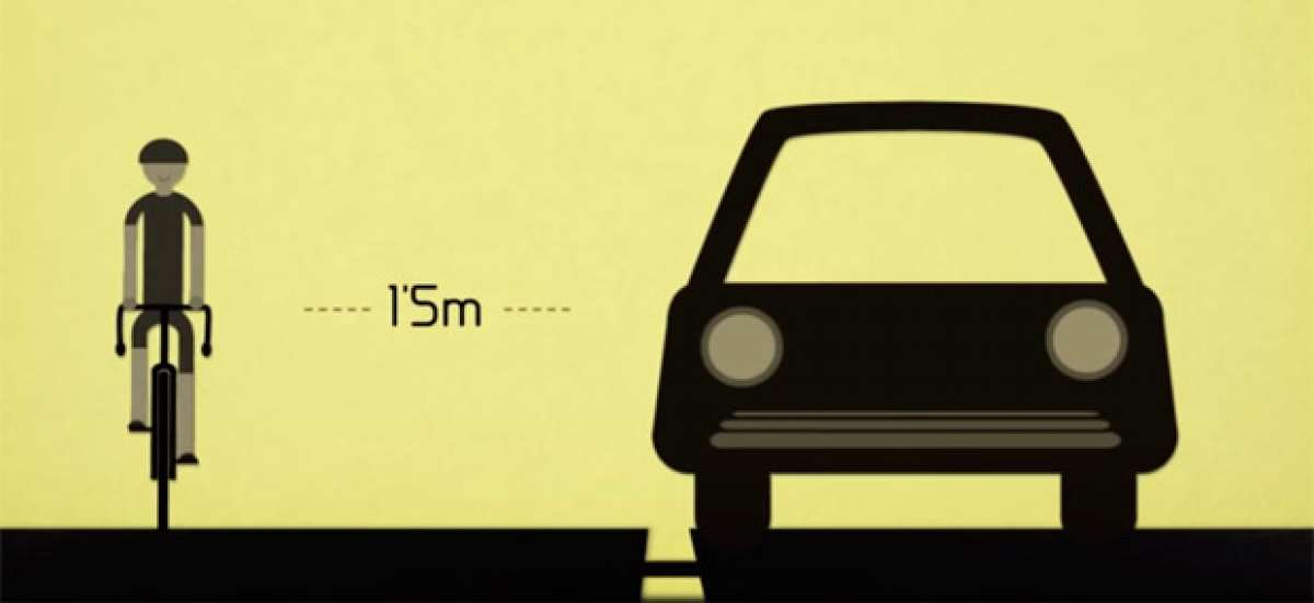 'Tu vida en metro y medio', una clase rápida para conductores acerca de cómo adelantar a un ciclista