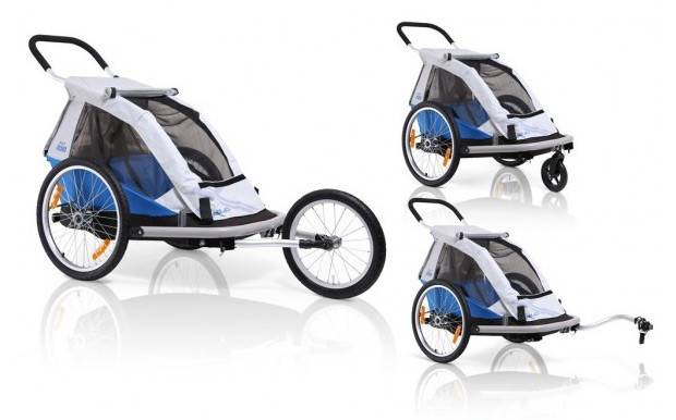 Nuevos remolques infantiles para bicicletas Duo y Mono de la firma XLC