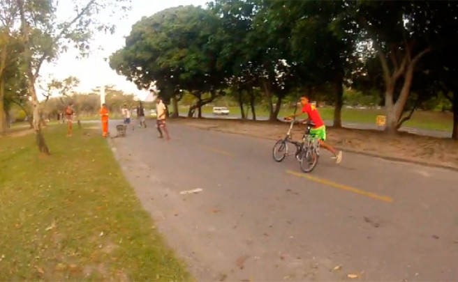 Así te roban una bicicleta en Brasil