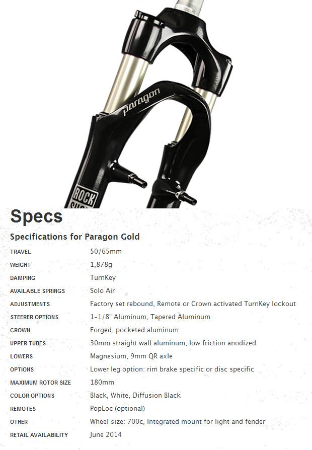 RockShox Paragon: La nueva horquilla de suspensión para ruedas 700c de RockShox