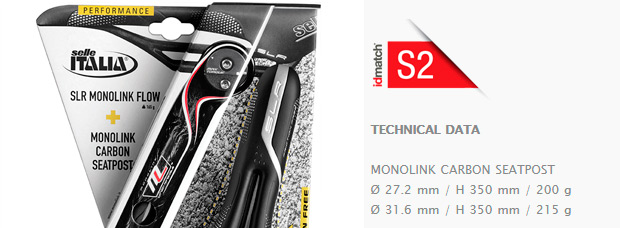 Selle Italia 2015: Nuevos packs de tija más sillín Combo Flite Monolink y Combo SLS Monolink
