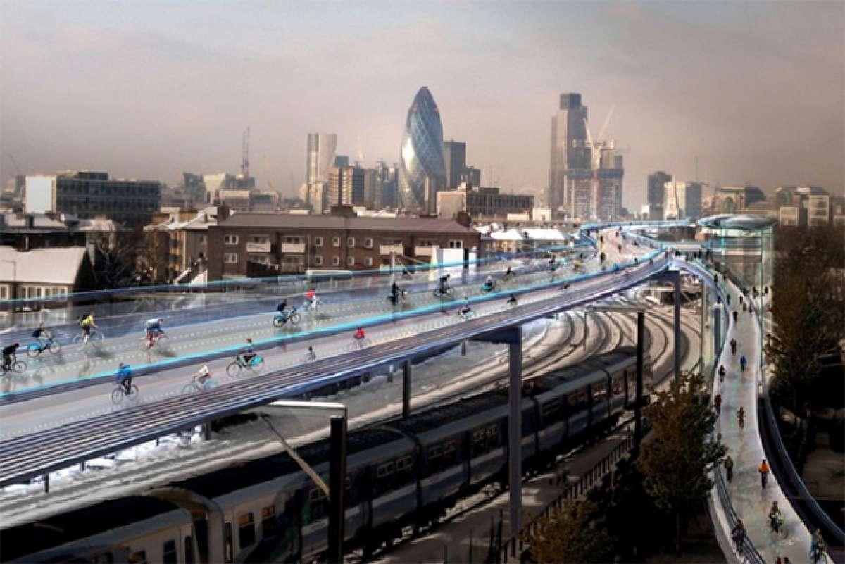 SkyCycle: Un impresionante proyecto para construir ciclovías sobre la ciudad de Londres