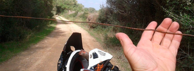 Así era la trampa mortal encontrada en el municipio de Llucmajor, en Mallorca