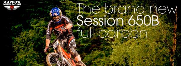 La nueva Trek Session 27.5 Carbon de 2015 en acción