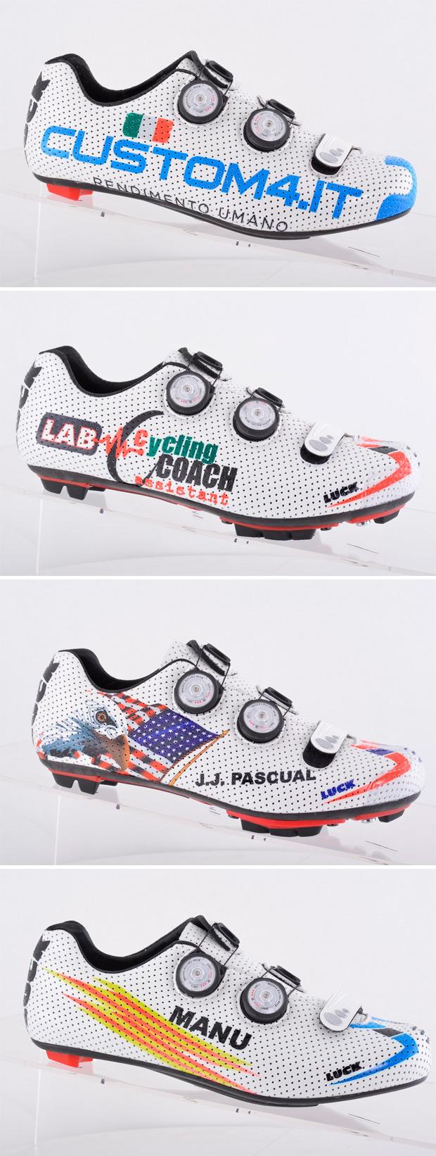 Nueva aplicación para personalizar el diseño de las zapatillas de Luck Cycling Shoes