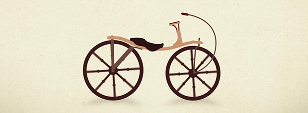 La evolución de la bicicleta... 200 años de historia en un minuto de vídeo