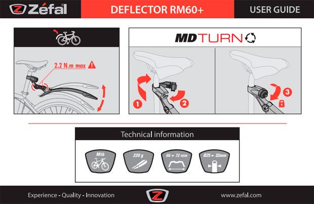 El nuevo guardabarros Deflector RM60+ de Zéfal