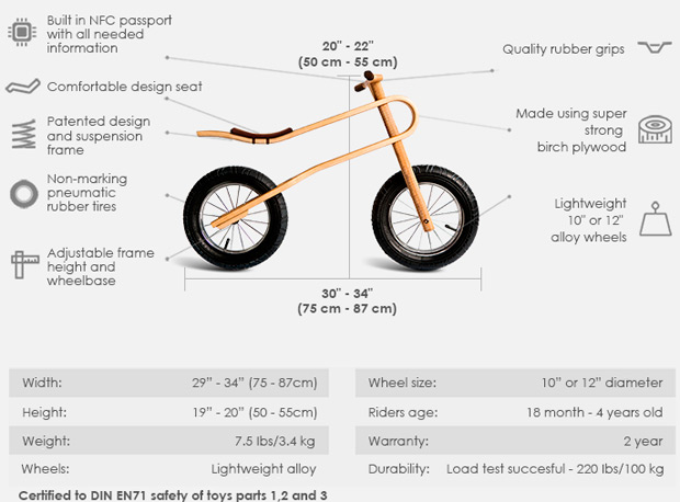 ZumZum Balance, una interesante bicicleta infantil con suspensión 'natural' de serie