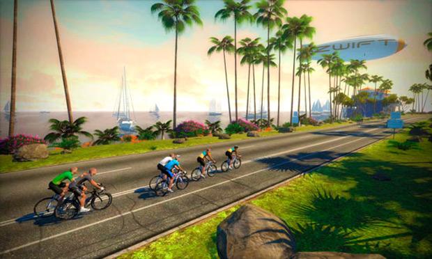 Zwift, un increíble juego online multijugador para competir mientras entrenamos en rodillo