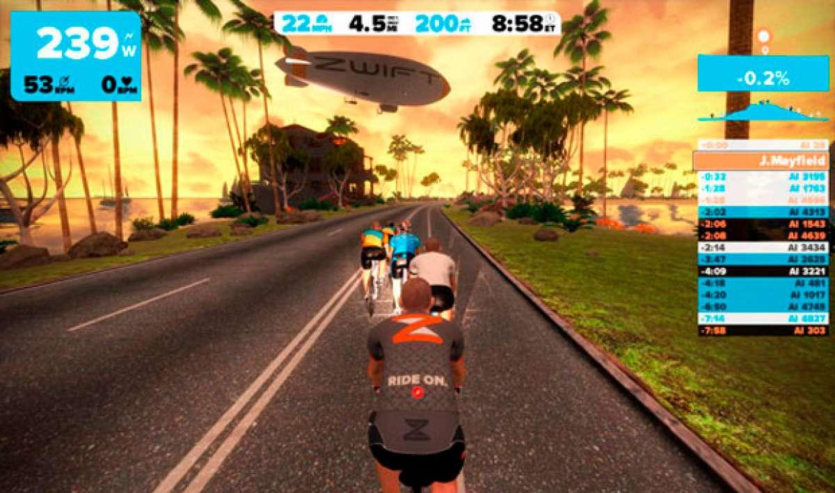 Así se presenta Zwift, un juego online multijugador para competir mientras entrenamos en rodillo