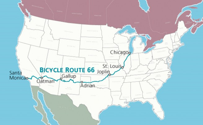 La Ruta 66: De Chicago (Illinois) a Los Ángeles (California) en bicicleta