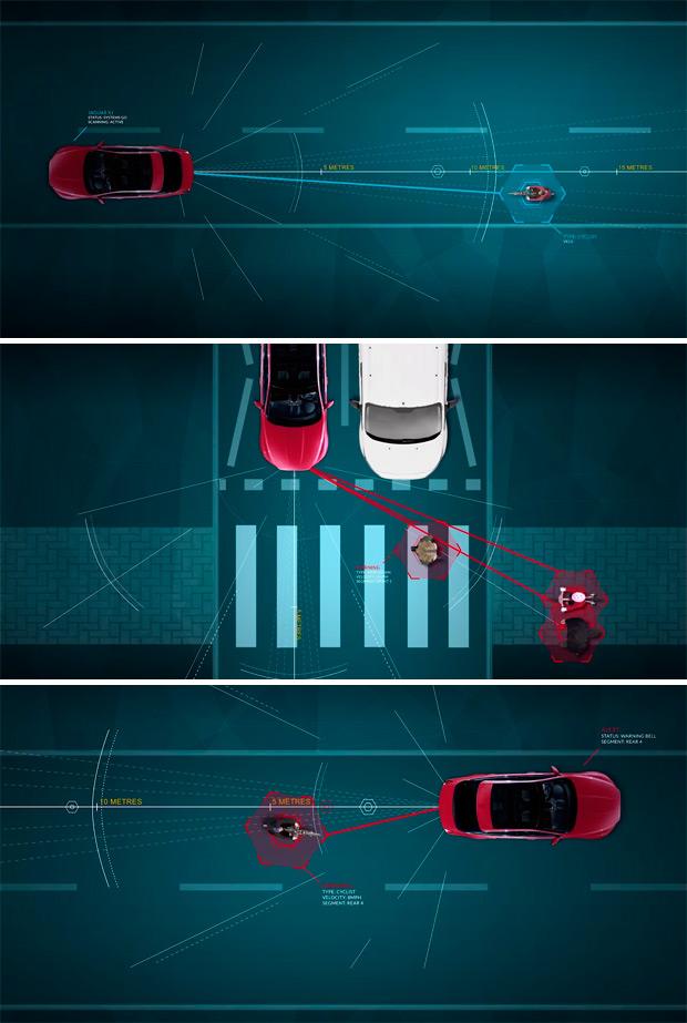 Bike Sense, el futuro sistema de detección de ciclistas de la firma Jaguar