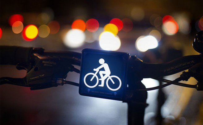 Brainy Bike Lights, unas luces de bicicleta 'subliminalmente' efectivas