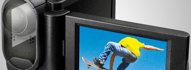 Nueva carcasa con pantalla integrada para las 'Action Cam' de Sony