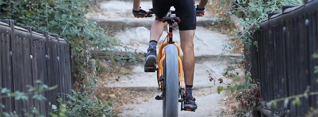 David Cachón y la nueva 'Carrefour Fat Bike' en acción
