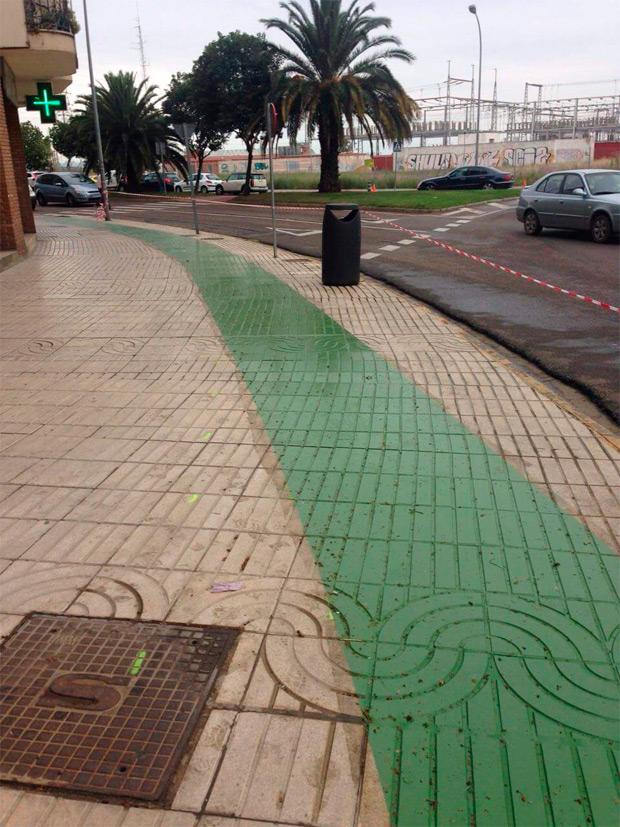 Así es el carril bici que ha costado 97.000 euros a los habitantes de Badajoz