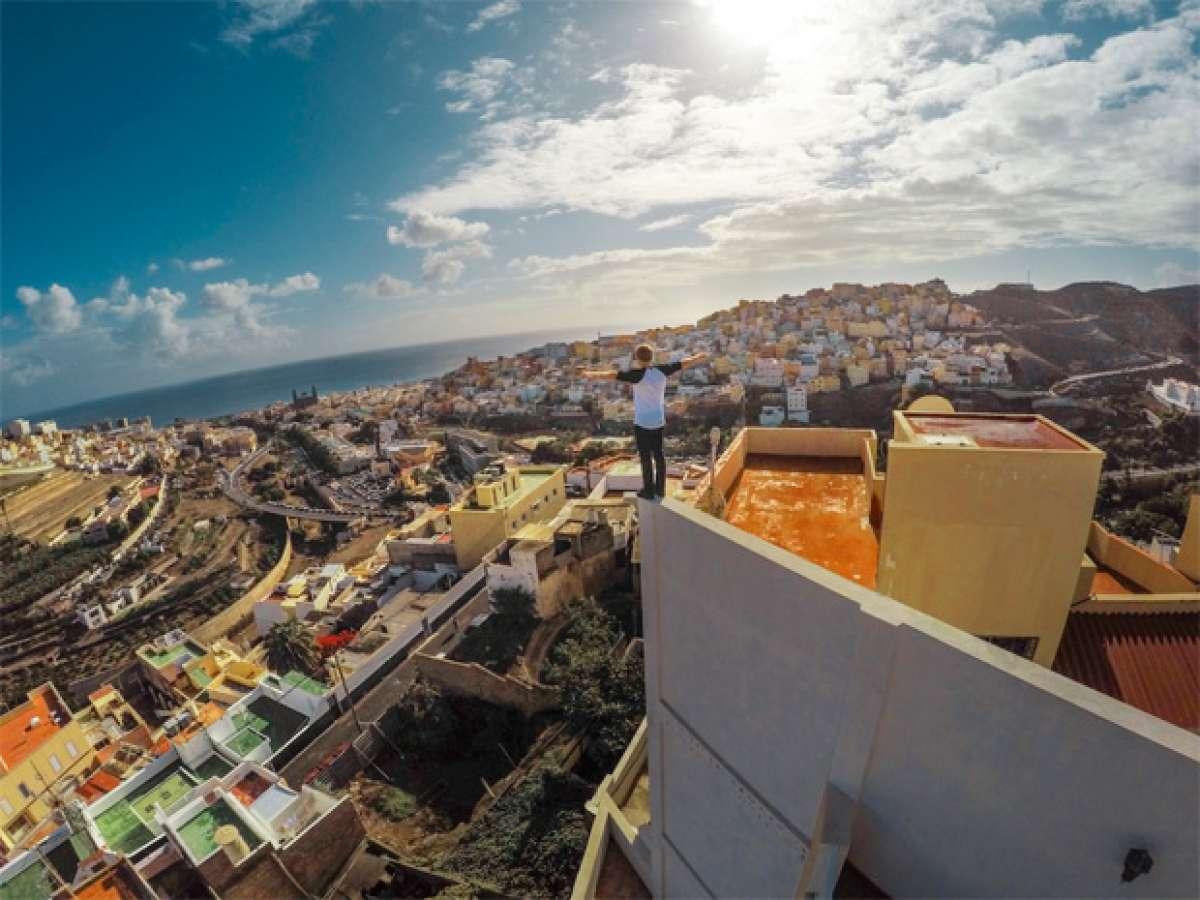 'Cascadia', las peripecias de Danny MacAskill en Gran Canaria
