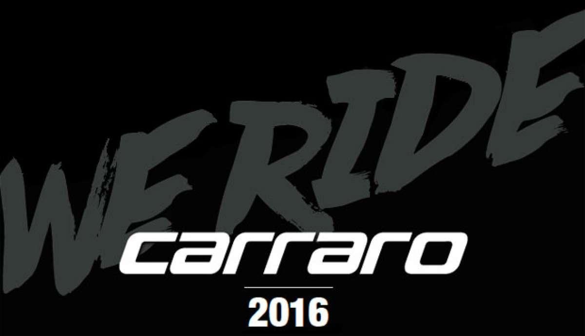 Catálogo de Carraro 2016. Toda la gama de bicicletas Carraro para la temporada 2016