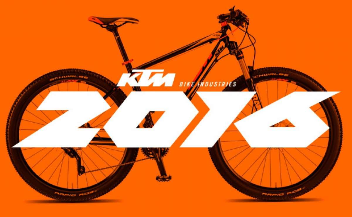 Catálogo de KTM 2016. Toda la gama de bicicletas KTM para la temporada 2016