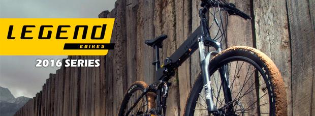 Catálogo de Legend eBikes 2016. Toda la gama de bicicletas eléctricas Legend para la temporada 2016