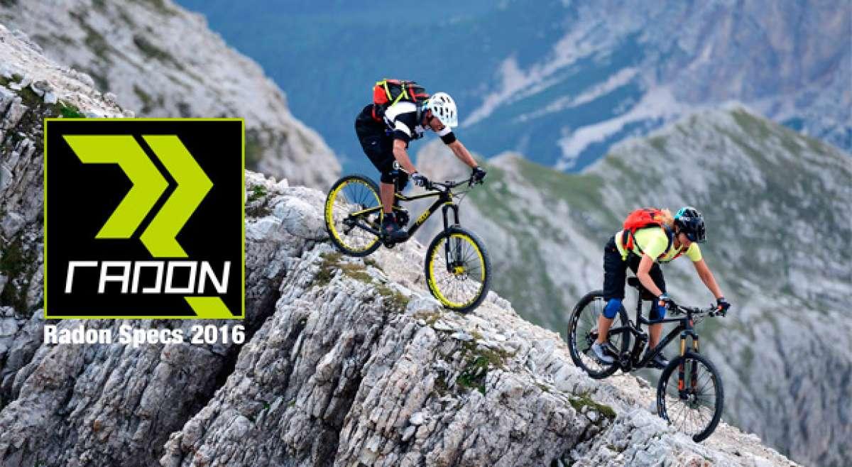 Catálogo de Radon 2016. Toda la gama de bicicletas Radon para la temporada 2016