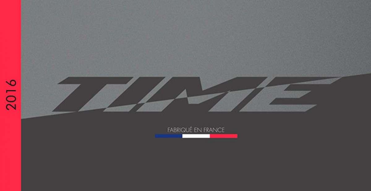 Catálogo de Time 2016. Toda la gama de bicicletas, componentes y accesorios Time para la temporada 2016
