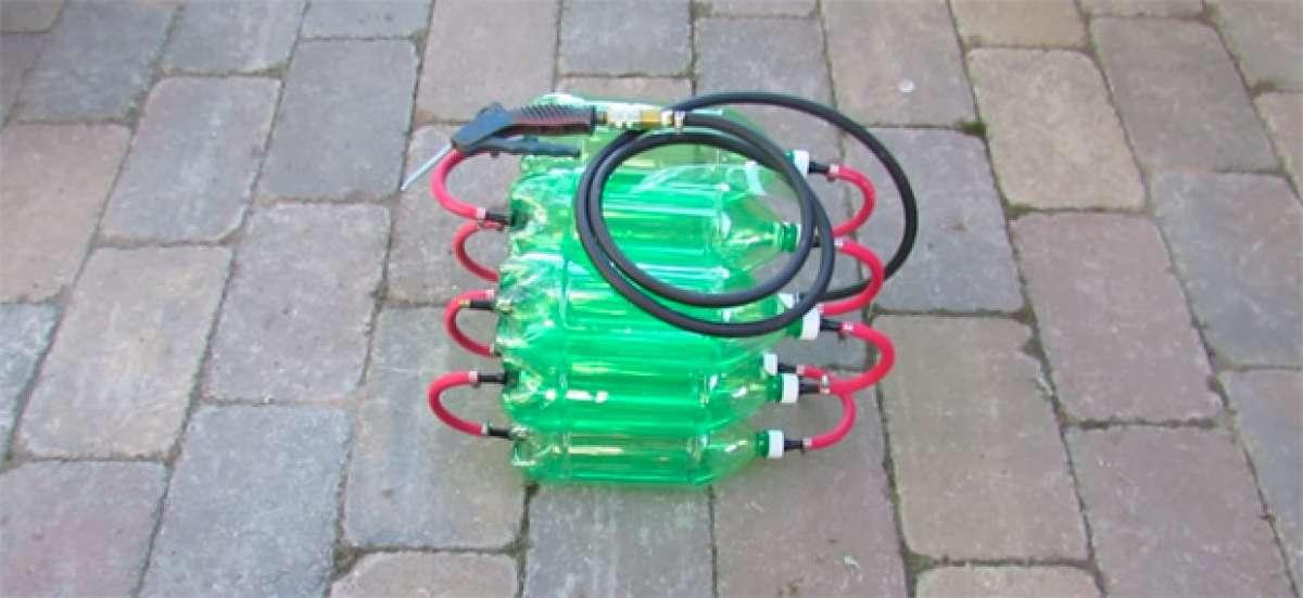 Cómo fabricar un compresor de aire casero con unas cuantas botellas de refresco