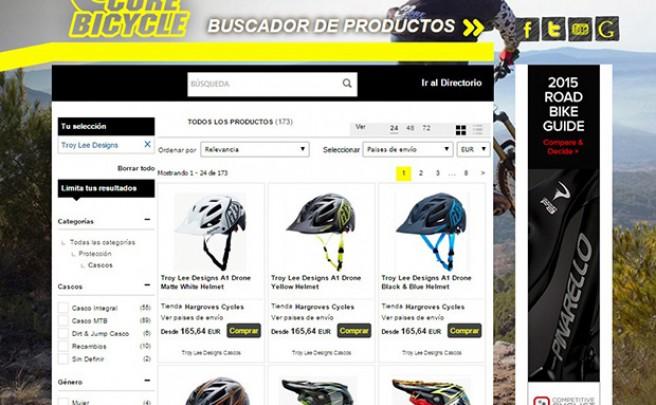 Nuevo (y práctico) buscador online de productos para bicicletas lanzado por CoreBicycle