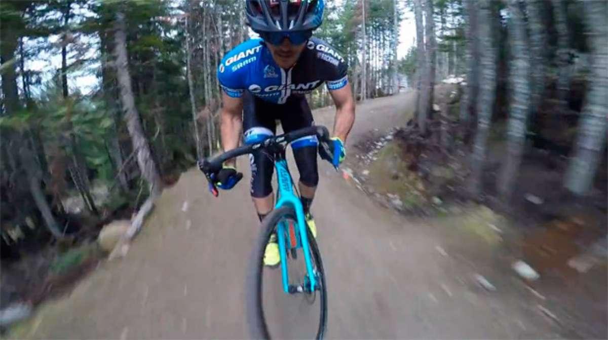 """Bajando por la """"A-Line"""" de Whistler... con una bicicleta de ciclocross"""