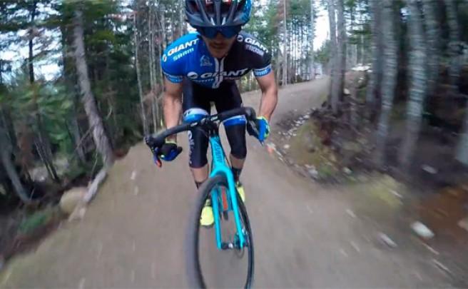 Bajando por la 'A-Line' de Whistler... con una bicicleta de ciclocross