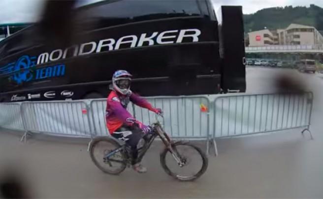Rodando a todo trapo en Schladming (Austria) con Danny Hart