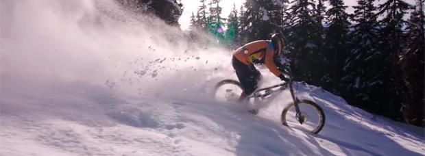 Bajando a toda velocidad por la nieve con Ludo May y su Canyon Torque