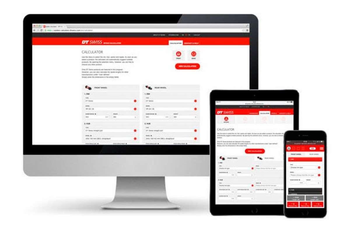 Para aficionados a la mecánica: Nueva calculadora online de radios de DT Swiss