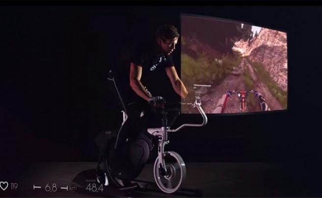 Ebove B\01 Real Motion Bike, una avanzada bicicleta indoor venida directamente desde el futuro