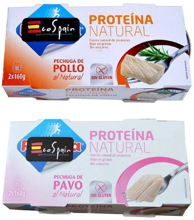 Nutrición funcional: Conservas enlatadas de pechuga de pollo, pechuga de pavo y hamburguesa de potro de EcoSpain