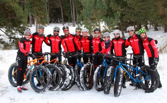 El equipo 'Imparables' en la espectacular primera edición de la Snow Epic
