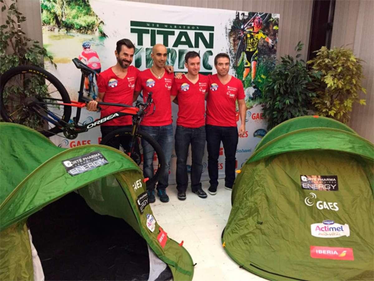 Santi Millán y el equipo 'Imparables', en la Titan Tropic Cuba by Gaes