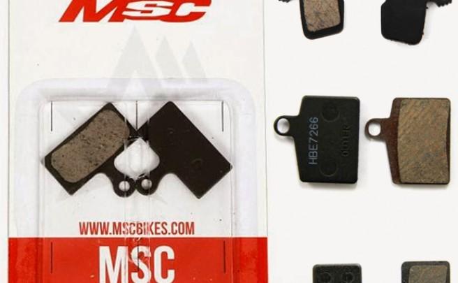 Nueva gama de pastillas de freno semimetálicas de MSC Bikes