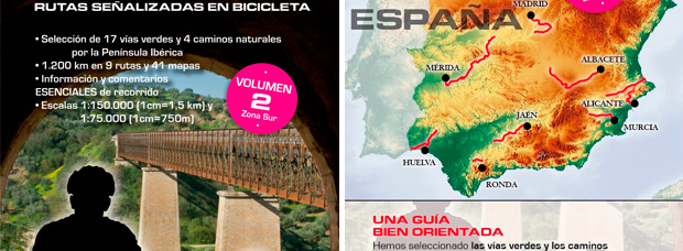Vías Verdes y Caminos Naturales de Ediciones Petirrojo, dos guías indispensables para cicloturistas