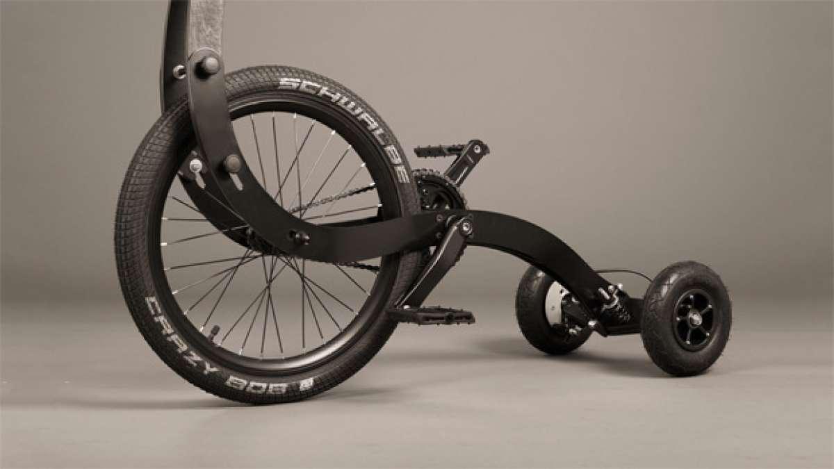 Halfbike, un interesante híbrido entre triciclo y patinete