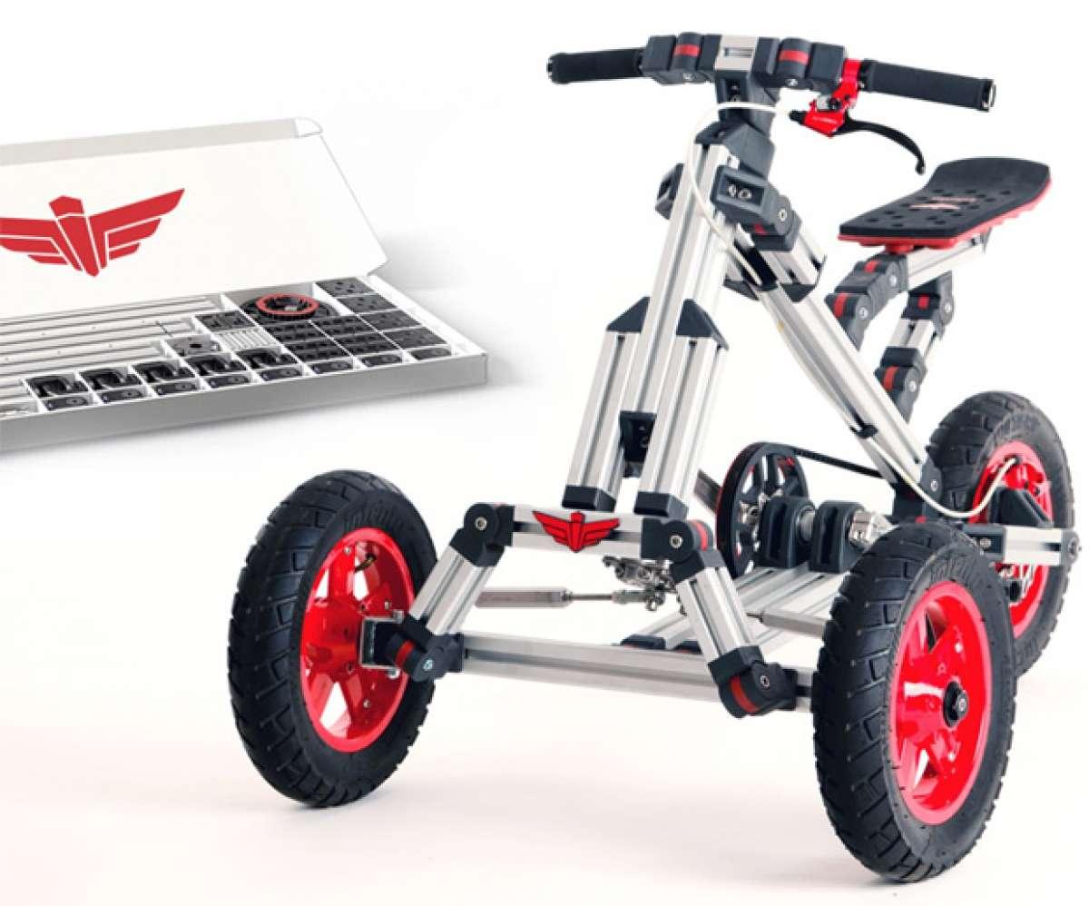 """Infento, un kit de construcción estilo """"Meccano"""" para fabricar bicicletas, triciclos, correpasillos y mucho más"""