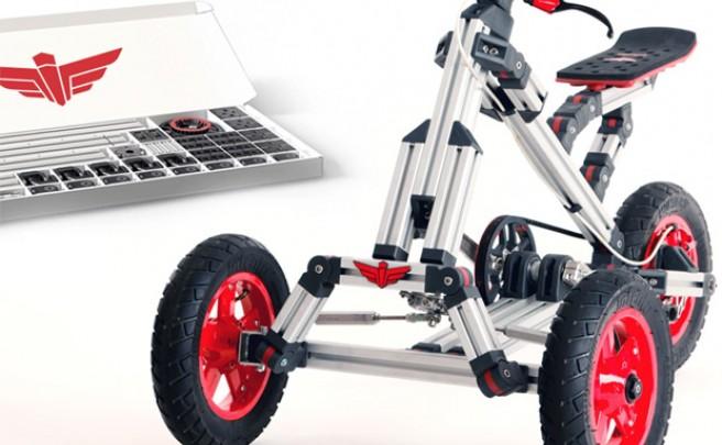 Infento, un kit de construcción estilo 'Meccano' para fabricar bicicletas, triciclos, correpasillos y mucho más