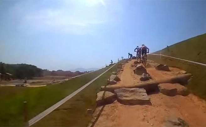 Rodando en el circuito olímpico de Río de Janeiro con Julien Absalon
