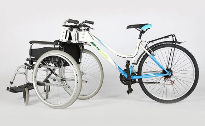 Kit Adapta, un sistema práctico y económico para adaptar una bicicleta a una silla de ruedas